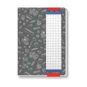 Szürke jegyzetfüzet, A5 - LEGO®
