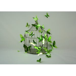 Butterflies Green 3D hatású 12 db-os falmatrica szett - Ambiance
