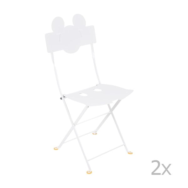 Bistro Mickey fehér fém kerti szék, 2 db - Fermob