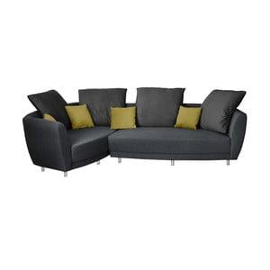 Viotti antracitszürke kanapé, bal oldali kivitel - Florenzzi