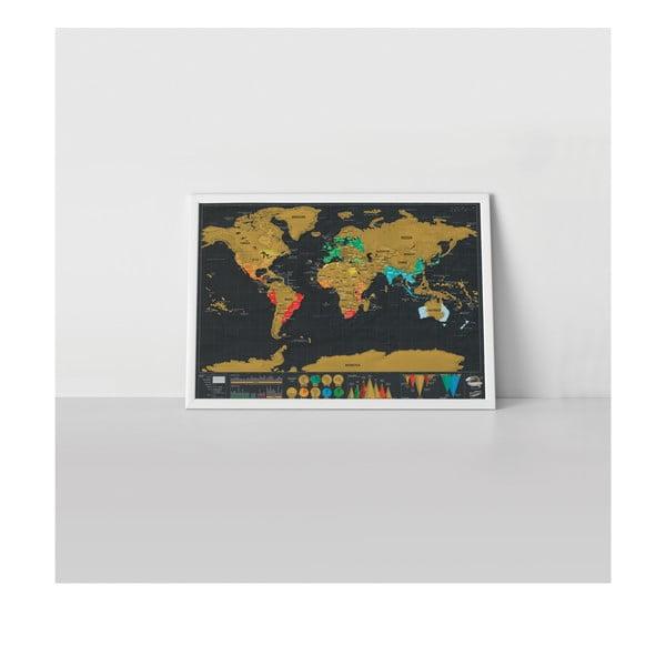 Travel Deluxe kaparós világtérkép - Luckies of London