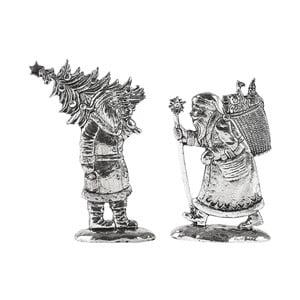 Santa Claus szobordísz 2 darabos készlet - KJ Collection