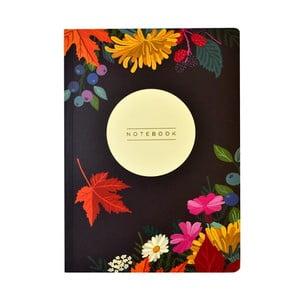 Autumn Floral Flexi A5 méretű jegyzetfüzet, 160 oldalas - Portico Designs