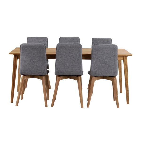 Mimi natúr tölgyfa étkezőasztal, hosszúság 180 cm - Folke