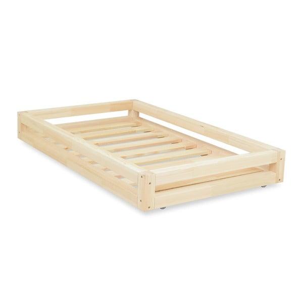 Lakkozott ágy alatti fiók és 4 db-os ágymagasító láb szett, 90 x 180 cm-es ágyhoz - Benlemi