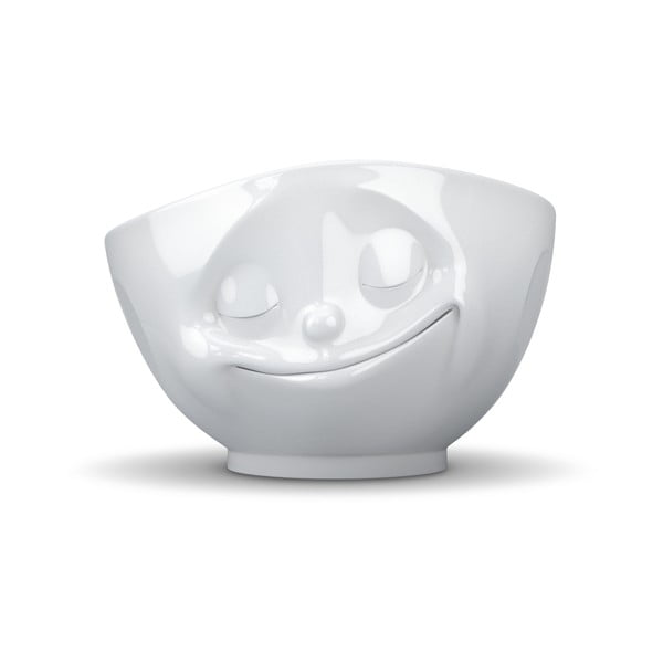 Fehér 'boldog' tálka - 58products