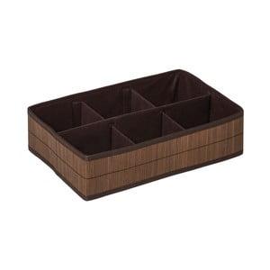 Kankyo barna 6 rekeszes bambusz rendszerező - Premier Housewares