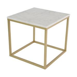 Accent márvány dohányzóasztal bronzszínű vázzal, szélesség 55 cm - RGE