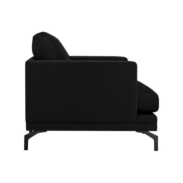 Jupiter fekete fotel, fekete lábakkal - Windsor & Co Sofas