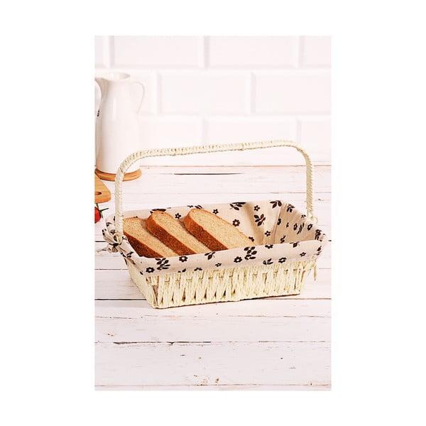 Logan Anabelle fonott kenyértartó kosár, 30 x 20 x 9 cm