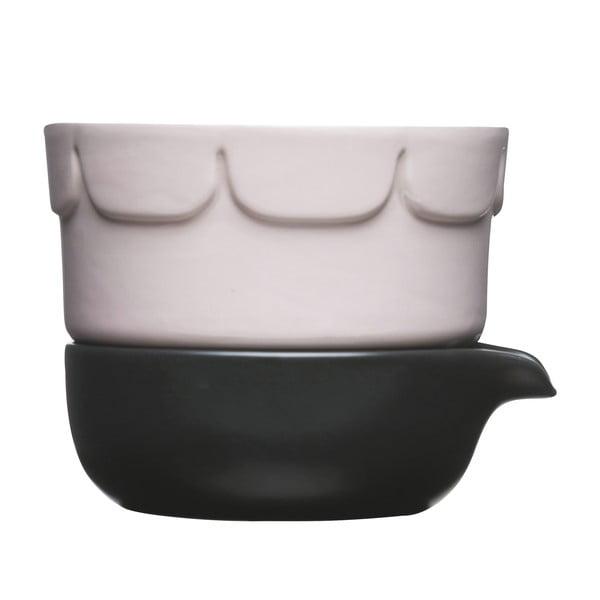 Porcelán kaspó alátéttel - Sagaform