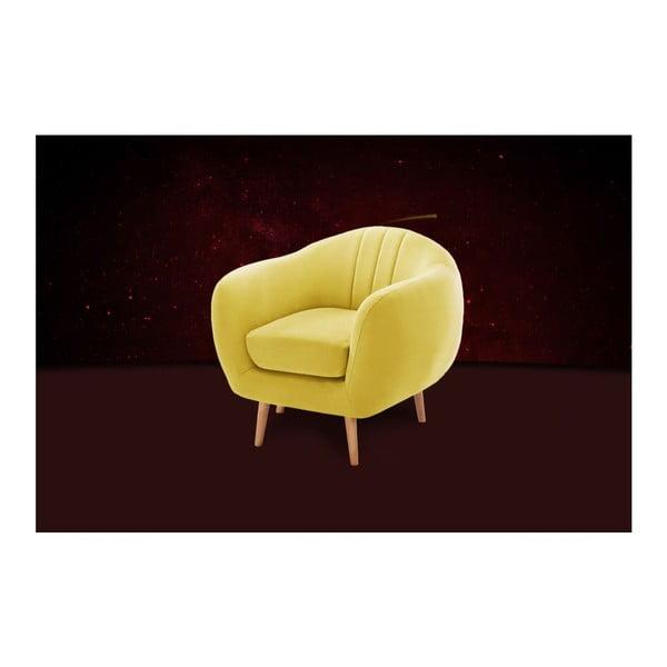 Sárga fotel - Scandi by Stella Cadente Maison