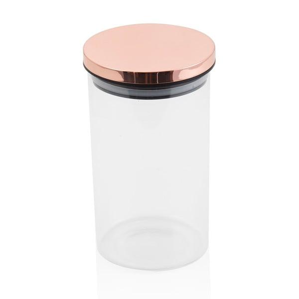 Rose Gold légmentesen zárható üvegedény, 10 x 18 cm - Brandani