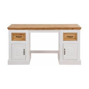 Suzie fehér, tömör fenyőfa íróasztal - Støraa