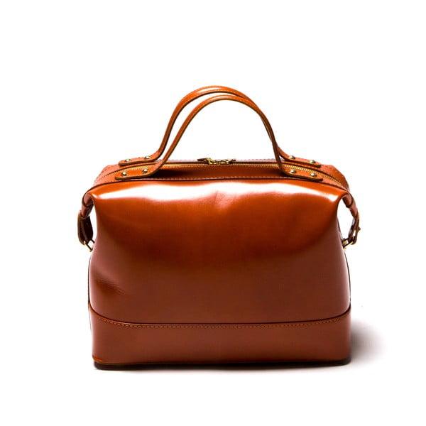 355 Cognac bőr kézitáska - Isabella Rhea