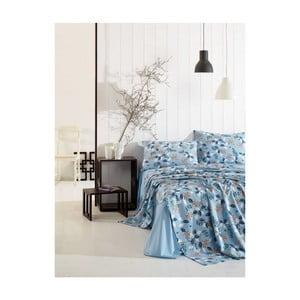 Basso Azuro kék elasztikus lepedő és 2 párnahuzat szett egyszemélyes ágyhoz d6db90cf8e
