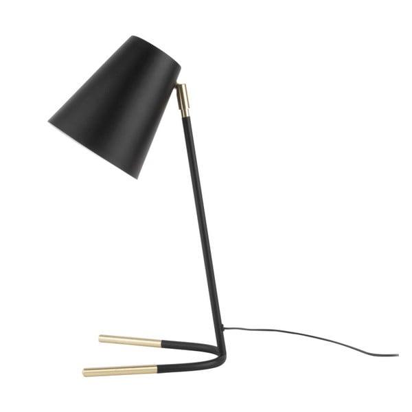Noble fekete asztali lámpa, aranyszínű részletekkel - Leitmotiv