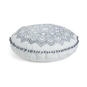 Aimara fehér mintás puff, Ø 60 cm - La Forma