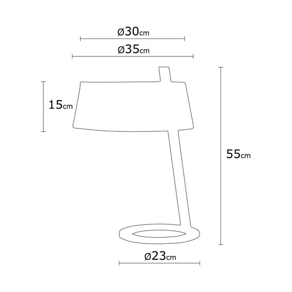 Way Surf bézs asztali lámpa