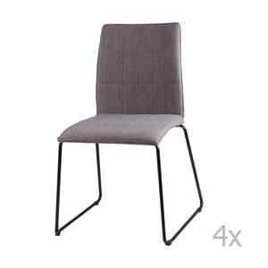 Malina világosszürke étkezőbe való székkészlet, 4 részes - sømcasa