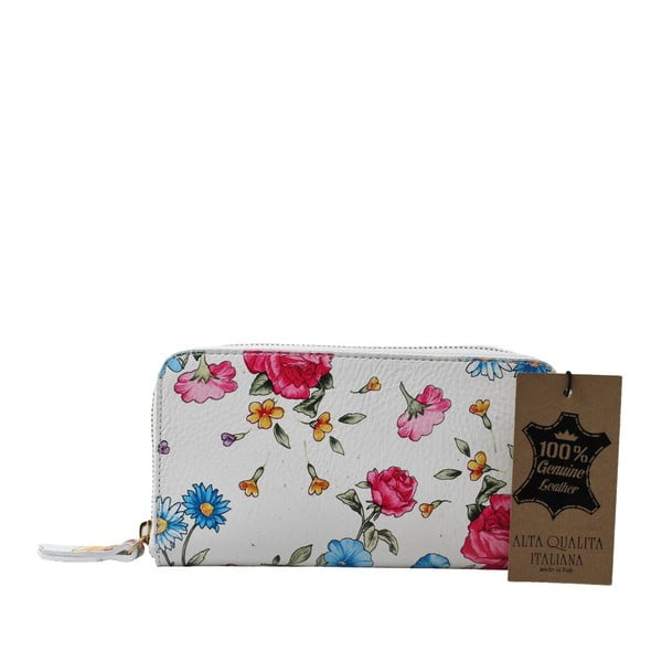 Flowerina virágmintás bőr pénztárca - Chicca Borse