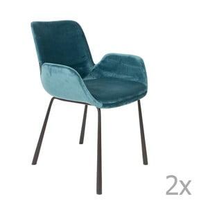 Brit kék szék kartámasszal, 2 darab - Zuiver