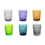 Marrakech 6 db-os színes pohárkészlet, 240 ml - Villa d'Este