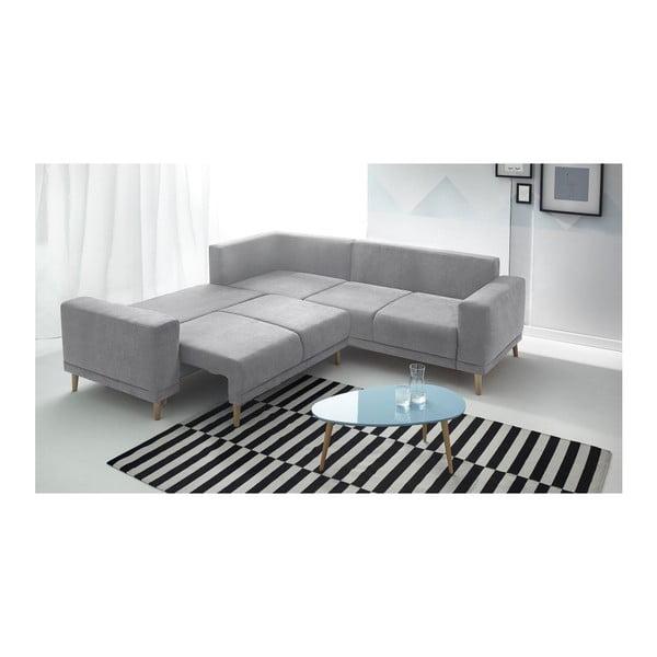 Luna szürke kinyitható kanapé lábtartóval - Bobochic Paris
