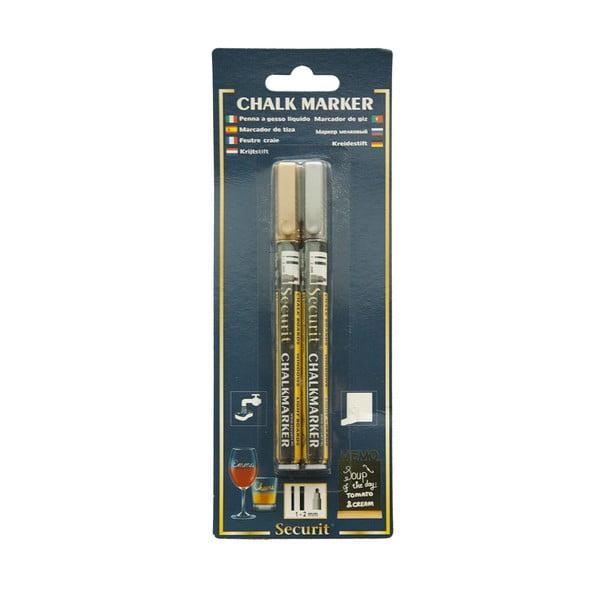 Liquid Gold and Silver arany-ezüst színű folyékony kréta szett - Securit®
