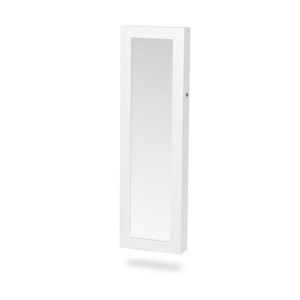 Bien fehér fali ékszertartó állvány tükörrel - Chez Ro
