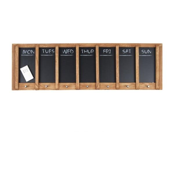 Wood falitábla heti tervezővel, 80 x 25 cm - PT LIVING