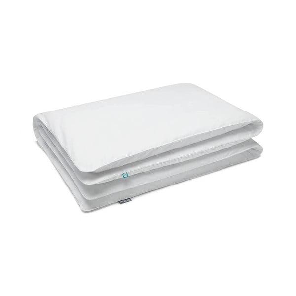 Fehér egyszemélyes pamut ágyneműhuzat, 140x200cm - Mumla