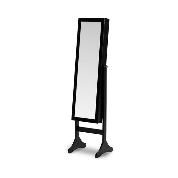 Bien fekete, álló ékszertartó állvány tükörrel - Chez Ro