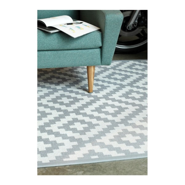 Viki szürke mintás kétoldalas szőnyeg, 140 x 200 cm - Narma