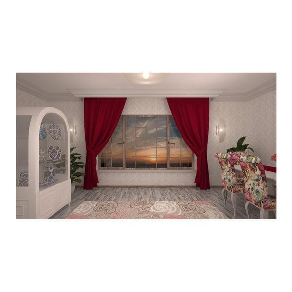 Rosario sötétpiros függöny, 140 x 270 cm