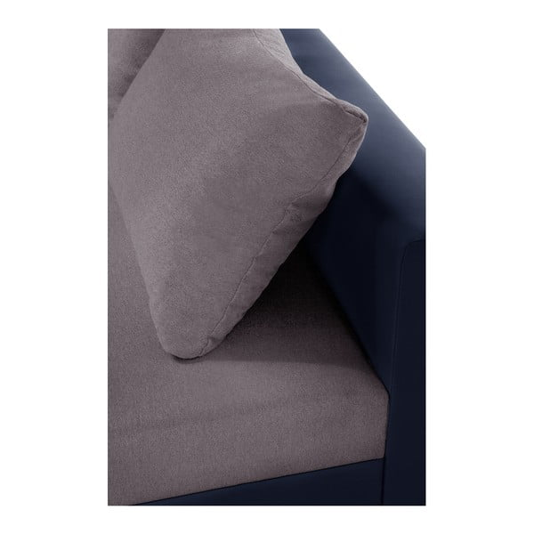 Aventure kékesszürke kanapé, jobb oldalas - Interieur De Famille Paris