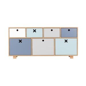 Alacsony pasztellszínű szekrény - Durbas Style