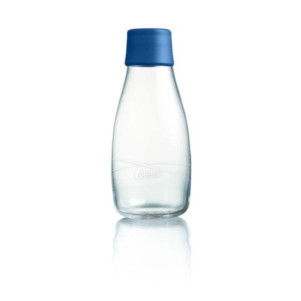 Sötétkék üvegpalack élettartam garanciával, 300ml - ReTap