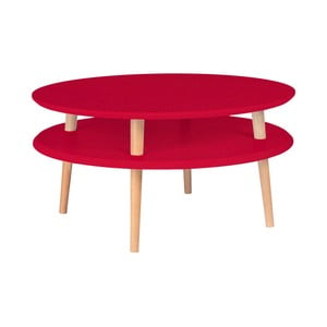 Červený konferenční stolek Ragaba Ufo, ⌀70cm