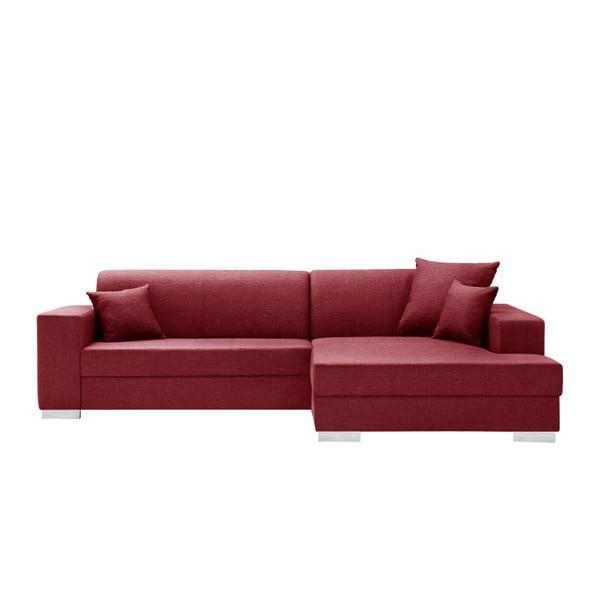Perle piros kanapé, jobb oldalas - Interieur De Famille Paris