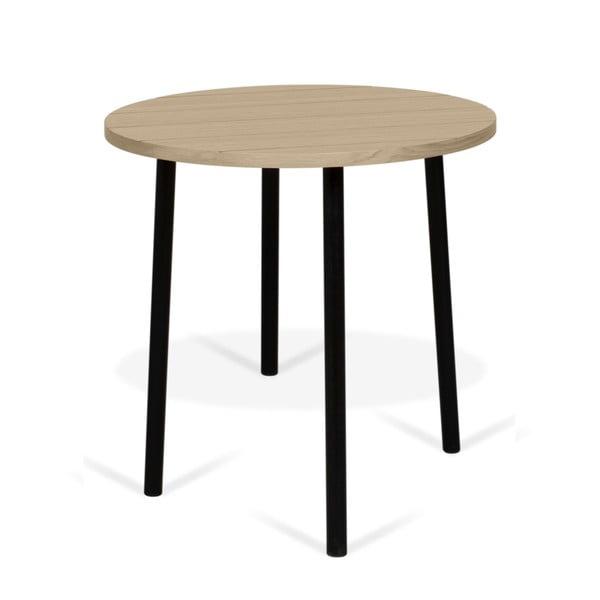Ply tárolóasztal tölgyfa dekorlappal, ø 50 cm - TemaHome