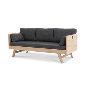 Notte szürke matrac párnákkal kanapéhoz, 200 x 75 cm - Kiteen