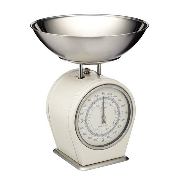 Living Nostalgia krémszínű konyhai mérleg, max. 4 kg - Kitchen Craft