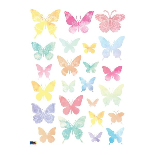 Artistic Butterflies 24 db-os falmatrica szett - Ambiance