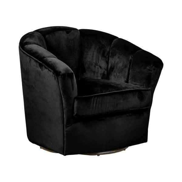 Gold fekete bársony fotel - Evergreen House