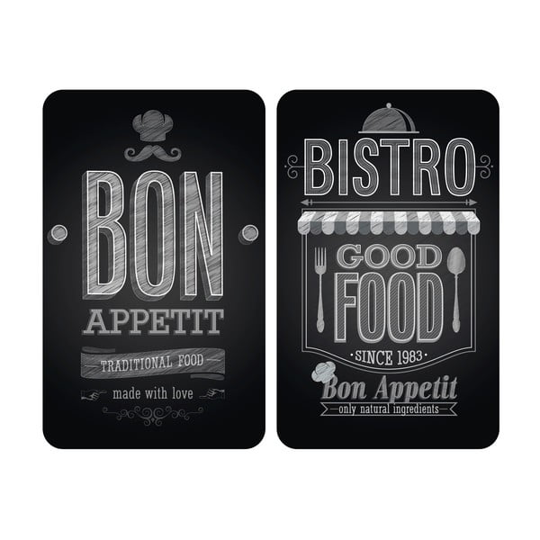 Bon Appetit 2 db tűzhelyvédő üveglap, 52x30cm - Wenko