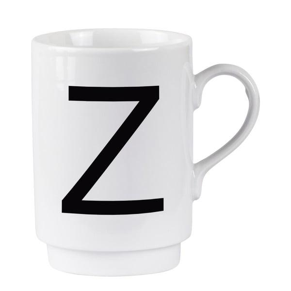 Z betűmintás porcelán bögre, 250 ml - KJ Collection
