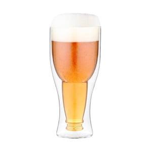 Duplafalú fordított söröspohár, 350 ml - Vialli Design