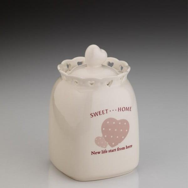 Sweet Home Mia porcelánedény fedéllel