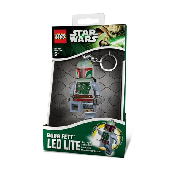 Star Wars Boba Fett világító kulcstartó - LEGO®